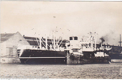 SS DELAWARE (?) - REAL PHOTO POSTCARD