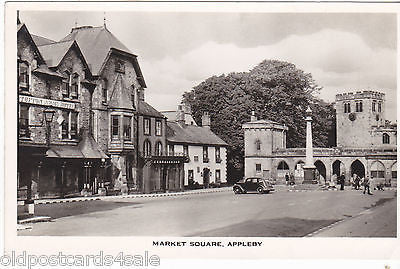 MARKET SQUARE, APPLEBY - REAL PHOTO POSTCARD (ref 5523/13)
