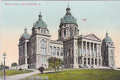 STATE CAPITOL, DES MOINES - OLD POSTCARD (ref 5997/13)