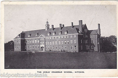 THE GIRLS' GRAMMAR SCHOOL, HITCHIN - PRE 1918 POSTCARD (ref 7182/14)