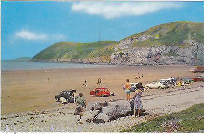 Brean Down, old postcard, Somerset