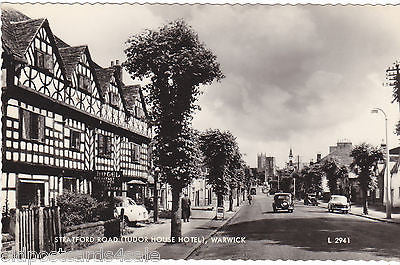 STRATFORD ROAD (TUDOR HOUSE HOTEL) WARWICK - Real Photo Postcard (ref 2093/13)