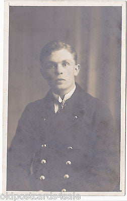 UNIDENTIFIED MAN IN UNIFORM (?) - VINTAGE REAL PHOTO POSTCARD (ref DEB1518/12)