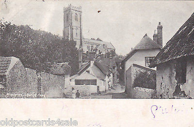 MINEHEAD, CHURCH TOWN - 1902 POSTCARD (ref 2957)