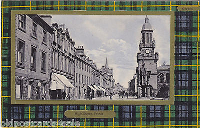 HIGH STREET, FORRES - OLD POSTCARD (ref 4191/12)