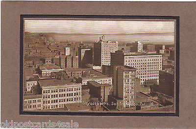 SKYSCRAPERS, SAN FRANCISCO - EMBOSSED POSTCARD (ref 5682/13)