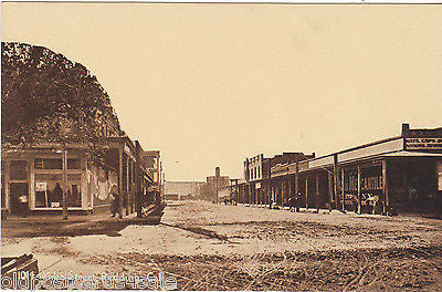 Old postcard of Yuba Street, Redding, California