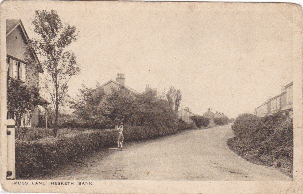 MOSS LANE, HESKETH BANK - NR SOUTHPORT - 1926 POSTCARD (ref 1558/15)