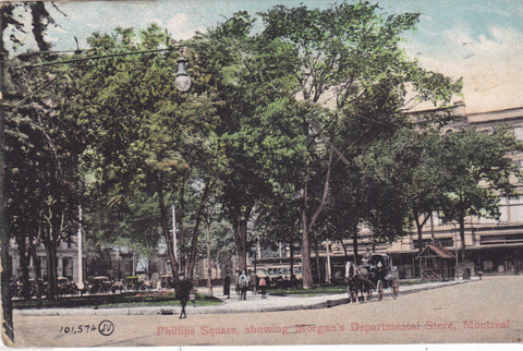 MONTREAL, PHILLIPS SQUARE SHOWING MORGAN'S DEPARTMENTAL STORE -1908 (ref 6979/14