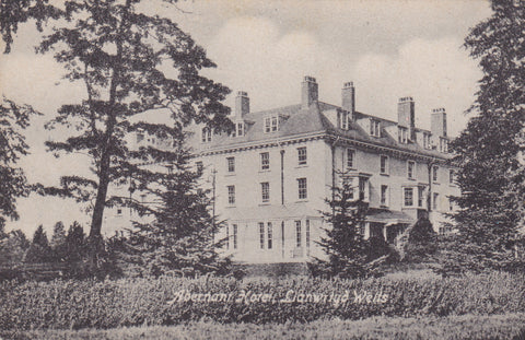 Old postcard of Abernant Hotel, Llanwrtyd Wells