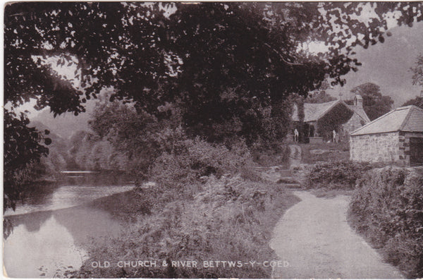 OLD CHURCH & RIVER, BETTWS-Y-COED