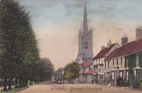 Old postcard of Windhill, Bishop's Stortford in Hertfordshire