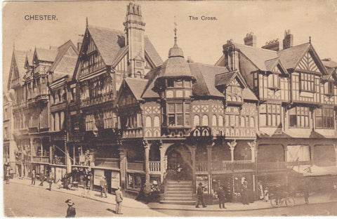 Old postcard of The Cross, Chester, Cheshire