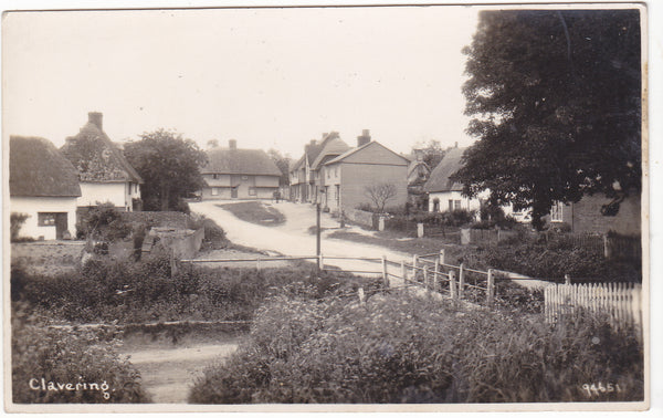 Old postcard of Clavering in Essex