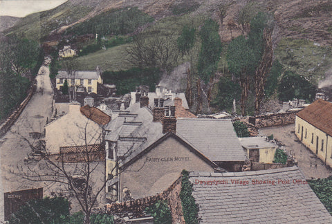 Old postcard entitled Dwygyfylchi Village Showing Post Office