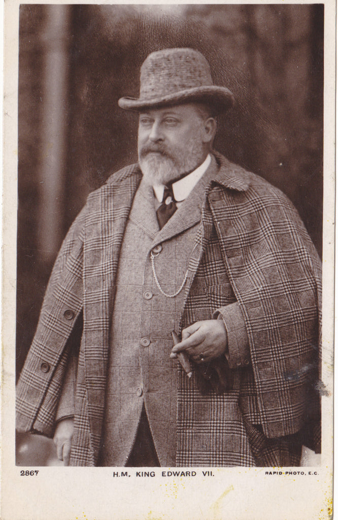 KING EDWARD VII - REAL PHOTO POSTCARD (ref 2320/18)