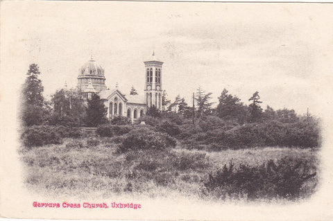 Old postcard of Gerrards Cross Church, Uxbridge