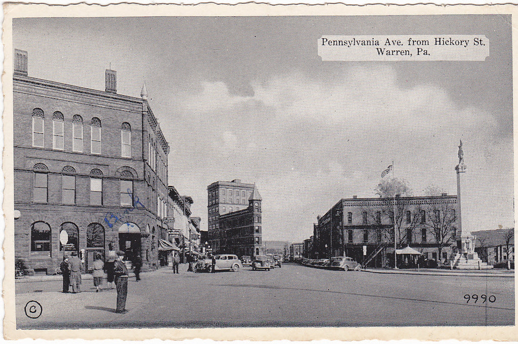 PENNSYLVANIA AVE, FROM HICKORY ST, WARREN Pa. (ref 3788/13)