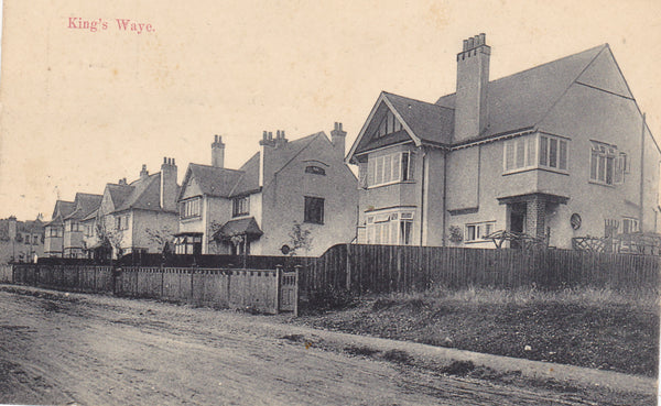 "Old postcard entitled ""King's Waye"" in Gerrards Cross Buckinghamshire"
