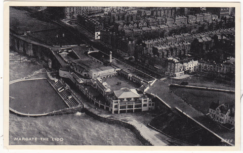 Old postcard of The Lido, Margate