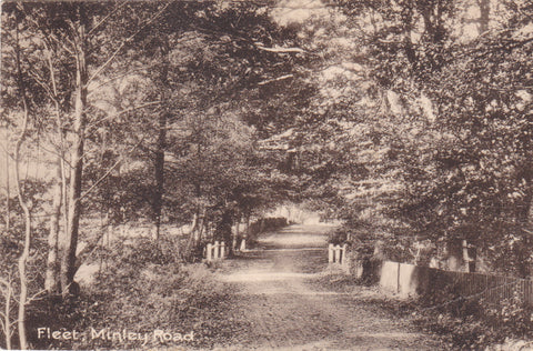 Old postcard of Minley Road, Fleet, Hampshire