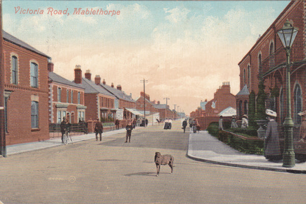 Old postcard of Victoria Road, Mablethorpe