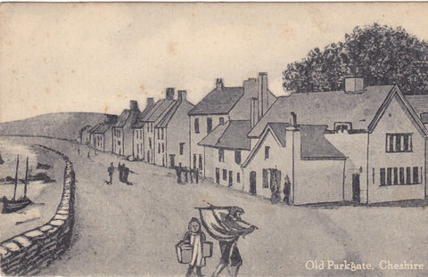 Old Parkgate, Cheshire - sketch postcard