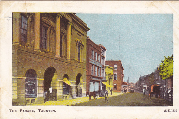 THE PARADE, TAUNTON - 1919 POSTCARD (ref 4016/15)
