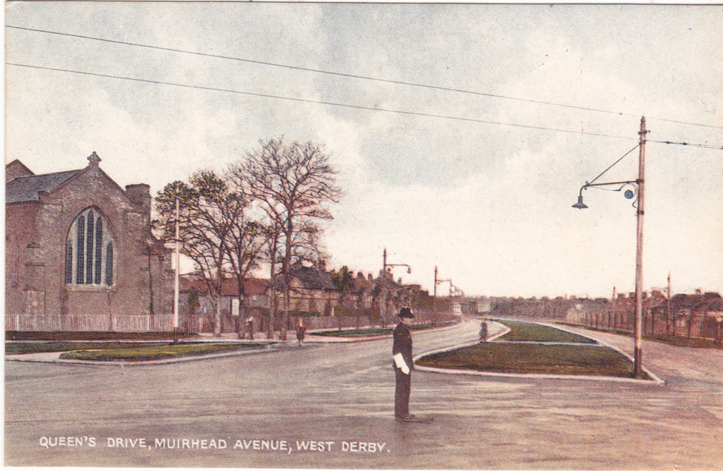 QUEEN'S DRIVE, MUIRHEAD AVENUE, WEST DERBY, LIVERPOOL POSTCARD