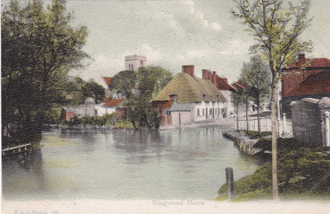 Old postcard of Ringwood, Hampshire