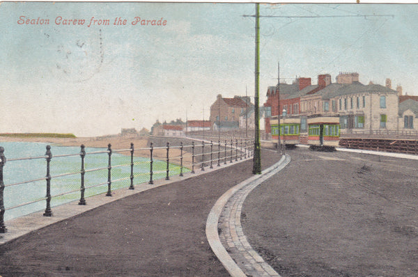 SEATON CAREW FROM THE PARADE - OLD DURHAM POSTCARD