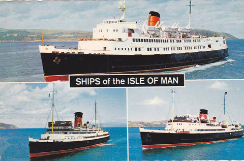 SHIPS OF THE ISLE OF MAN - BAMFORTH POSTCARD - FERRIES (ref 3613/20/5)