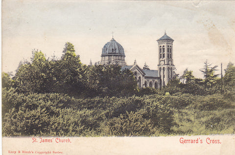 Old postcard of St James' Church, Gerrards Cross, Buckinghamshire