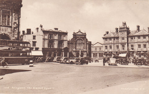 Old postcard of Market Place, Abingdon