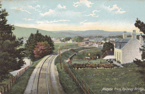 Aboyne, from Railway Bridge - old Aberdeenshire postcard