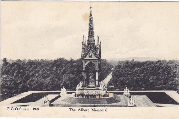 THE ALBERT  MEMORIAL - OLD LONDON POSTCARD (ref 2192/17)