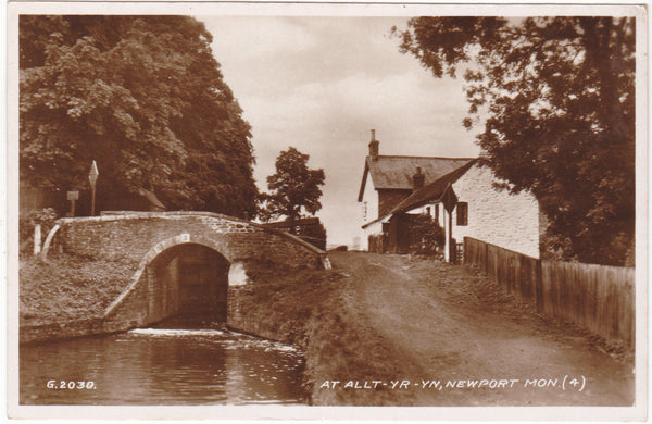 AT ALLT-YR-YN, NEWPORT, MON - REAL PHOTO POSTCARD