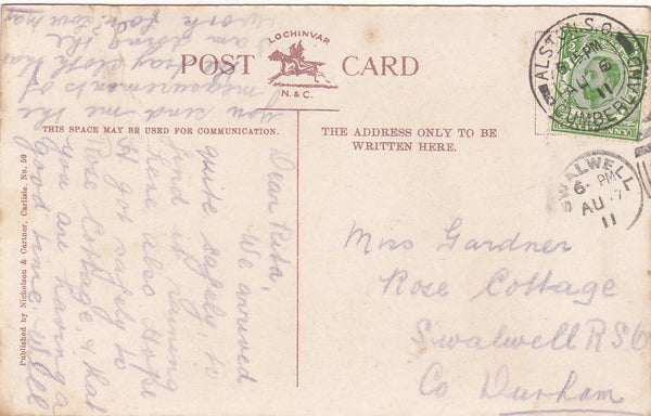ALSTON - 1911 MULTIVIEW POSTCARD (ref 2151/20/Gb)