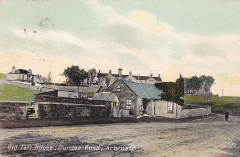 Old postcard of The Old Toll House, Dundee Road, Arbroath