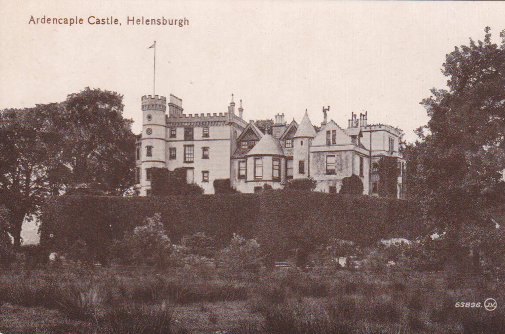 Old postcard of Ardencaple Castle, Helensburgh
