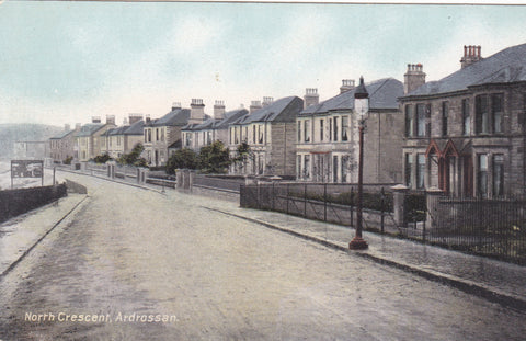Old postcard of North Crescent, Ardrossan, Ayrshire