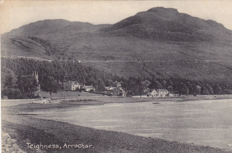 Old postcard of Teighness, Arrochar in Argyllshire