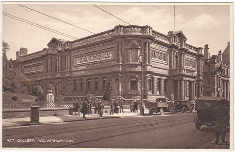 Old postcard of Art Gallery, Wolverhampton