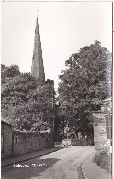 Real photo postcard of Ashover Church, Derbyshire