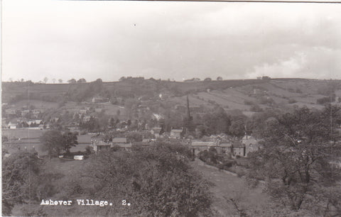 Real photo postcard of Ashover Village, Derbyshire