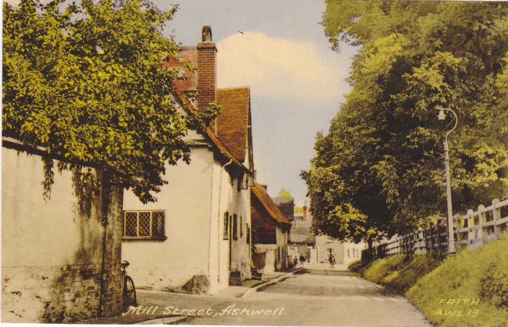 Old postcard of Mill Street, Ashwell, Hertfordshire