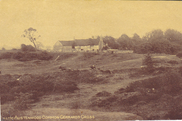 Old postcard of Austenwood Common, Gerrards Cross in Buckinghamshire