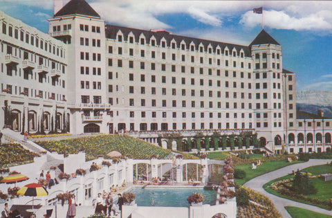 CHATEAU LAKE LOUISE AND SWIMMING POOL, BANFF NATIONAL PARK