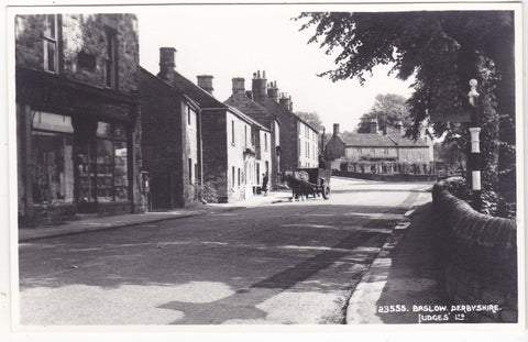 Real photo postcard of Baslow, Derbyshire