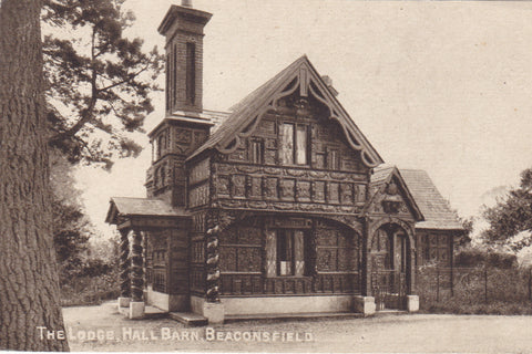 Old postcard of The Lodge, Hall Barn, Beaconsfield